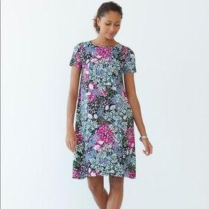 J Jill Floral Wearever Dress Petite L